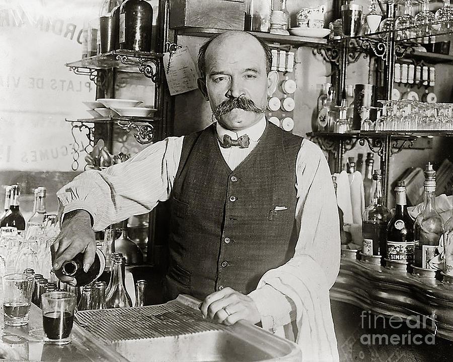 Prohibition Photograph - Speakeasy Bartender by Jon Neidert