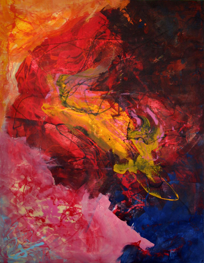 Abstract Painting - Speaks Into The Wind by Julie Mignard