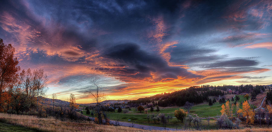 Spearfish Canyon Golf Club Sunrise by Fiskr Larsen