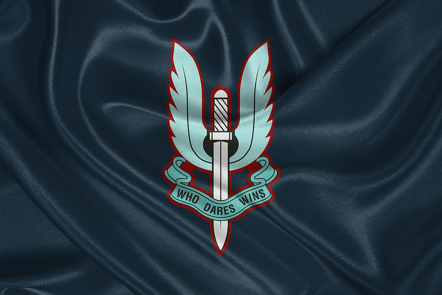 Military Digital Art - Special Air Service - S A S Unit Flag by Serge Averbukh