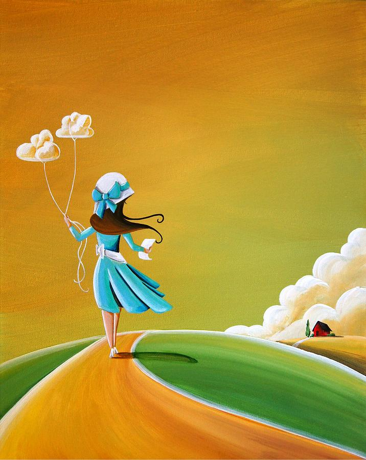 Girl Painting - Special Delivery by Cindy Thornton