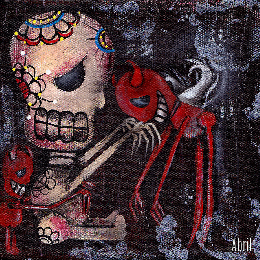 Day Of The Dead Painting - Special Friends by  Abril Andrade Griffith