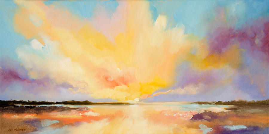 Sunset Painting - Spectacular Ending by Joyce Vollmer