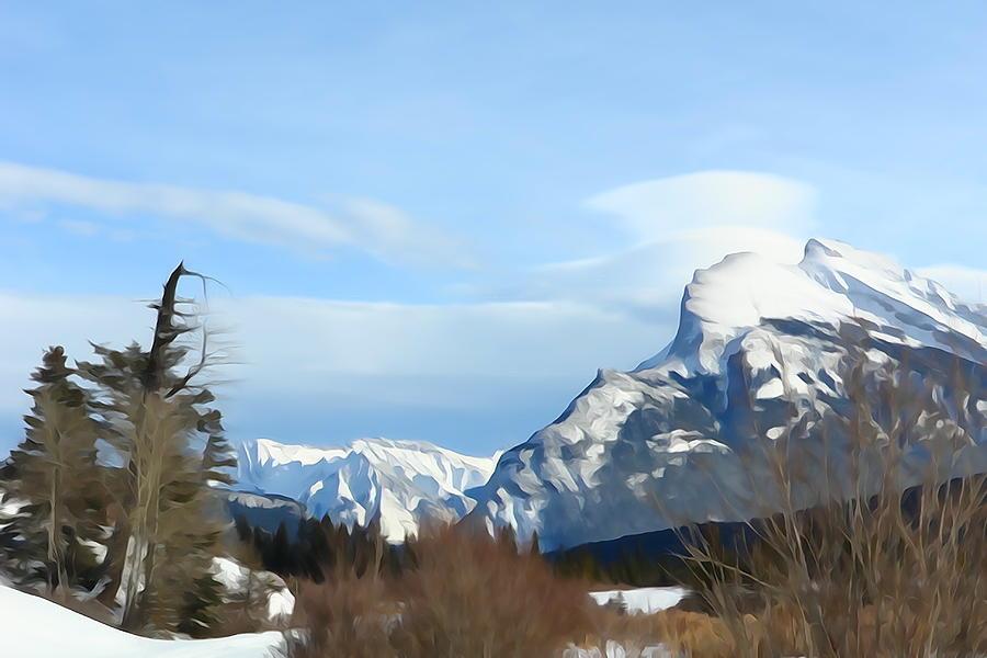 Spectacular Winter Mountain by Greg Hammond