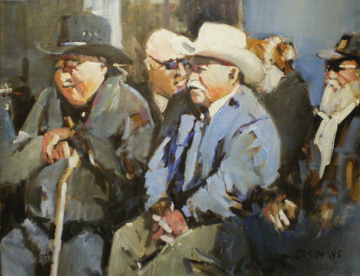 Festival Painting - Spectators 2 by David Simons