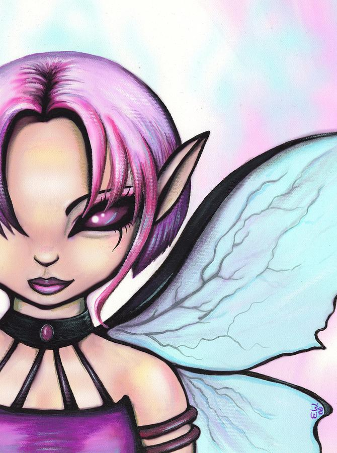 Purple Fairy Painting - Spectra by Elaina  Wagner