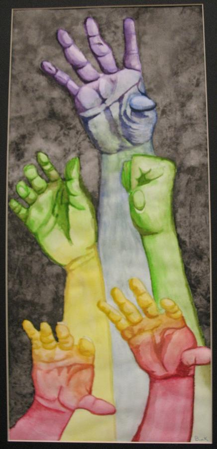 Hands Painting - Spectral Strength by Caitlin Binkhorst