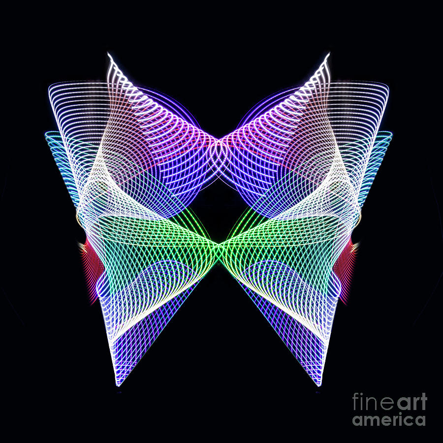 Light Painting Photograph - Spectrum Butterfly by Brian Jones
