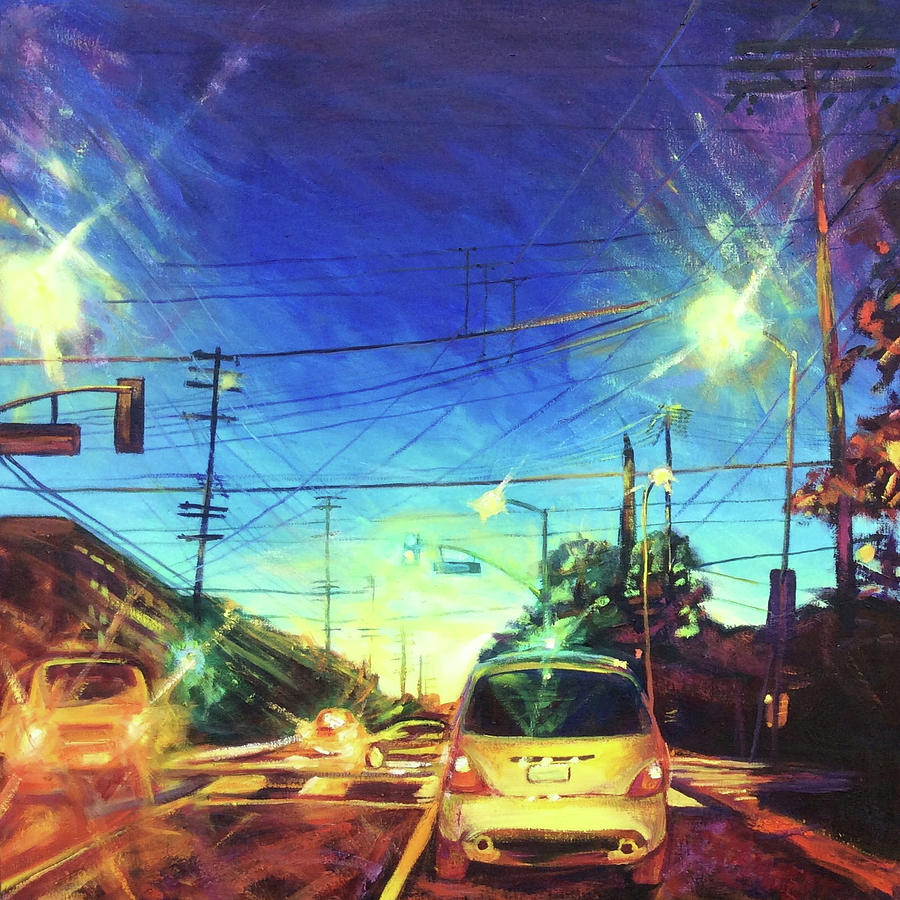 Traffic Painting - Speed of Light by Bonnie Lambert