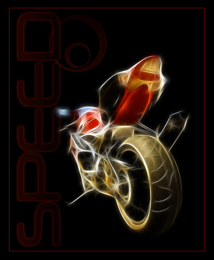 Motorcycle Digital Art - Speed by Ricky Barnard