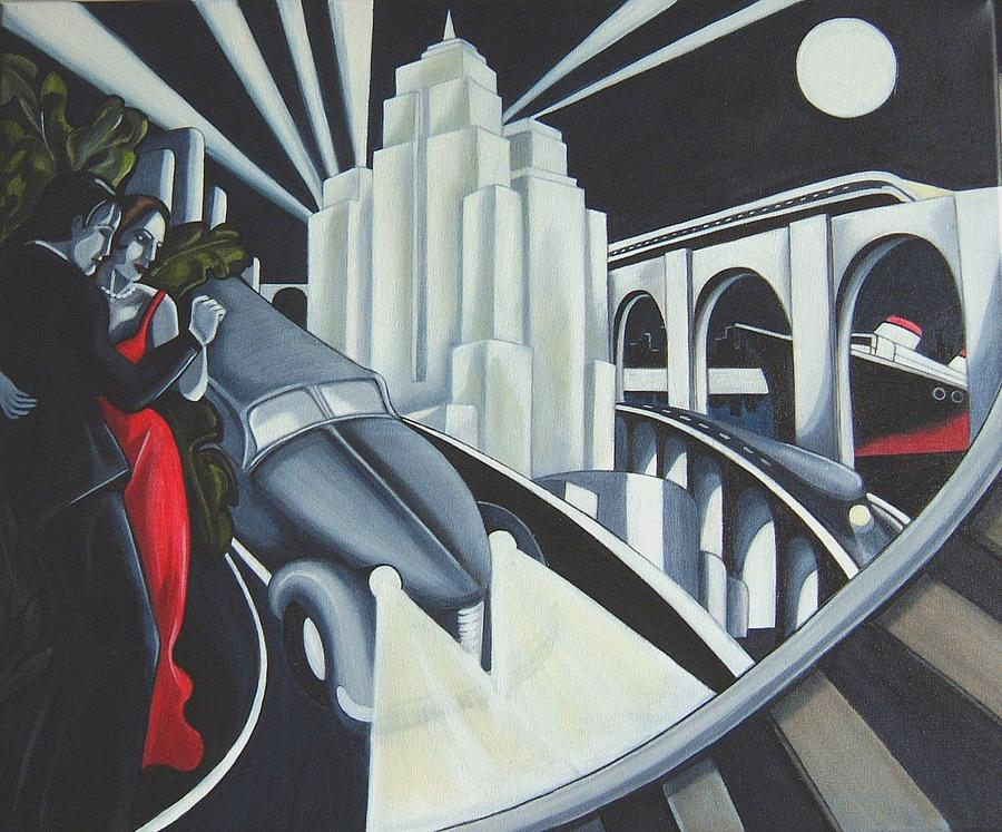 Art Deco Painting - Speed by Rosie Harper