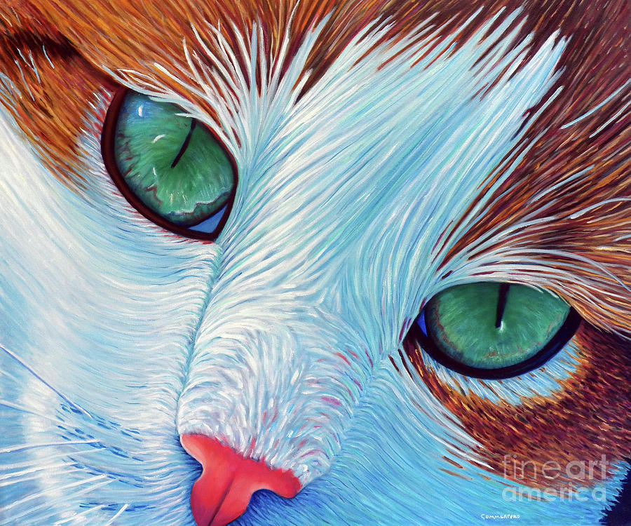 Cat Painting - Spellbound by Brian Commerford