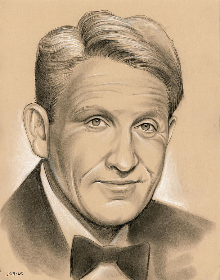Spencer Tracy 05dec Drawing