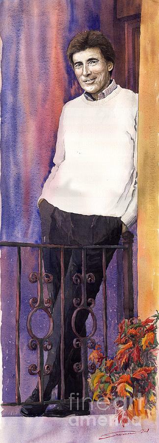 Watercolour Painting - Spenser 01 by Yuriy  Shevchuk