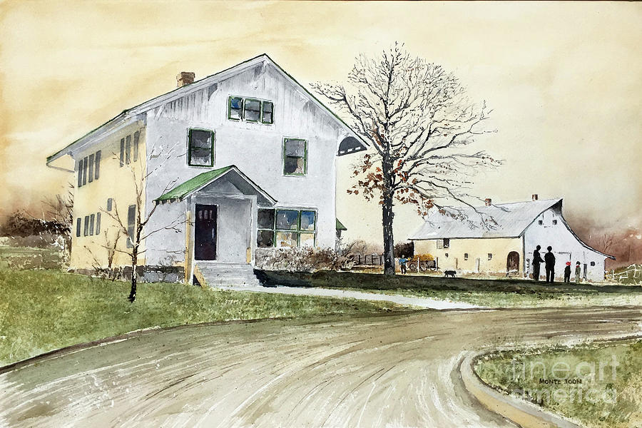 Sperry Homestead Painting by Monte Toon