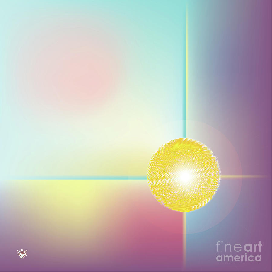 SPHERA - Abstract Art Print - Fantasy - Digital Art - Sea Flower - Fine Art Print by Ron Labryzz