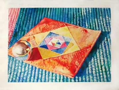 Realism Painting - Sphere On Cloth by Doug E L Haynes