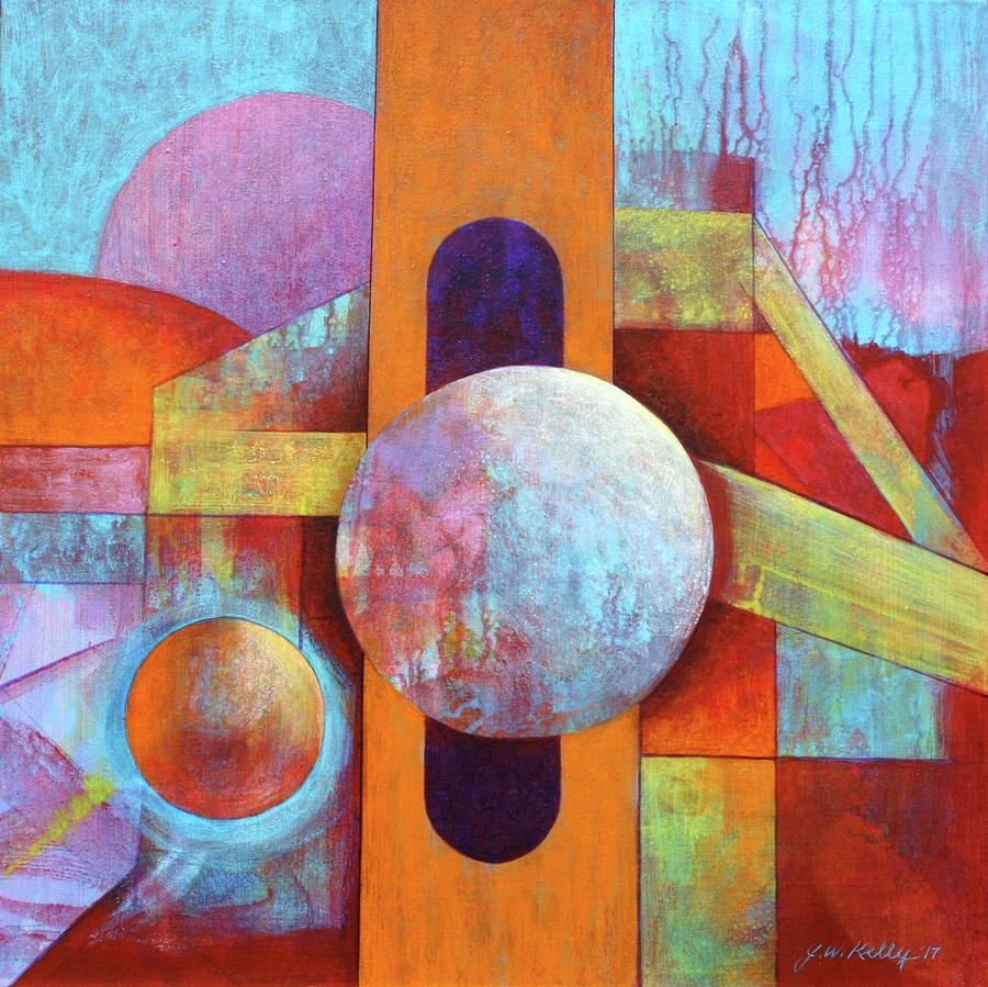Spontaneous Painting - Spheres And Beams by J W Kelly