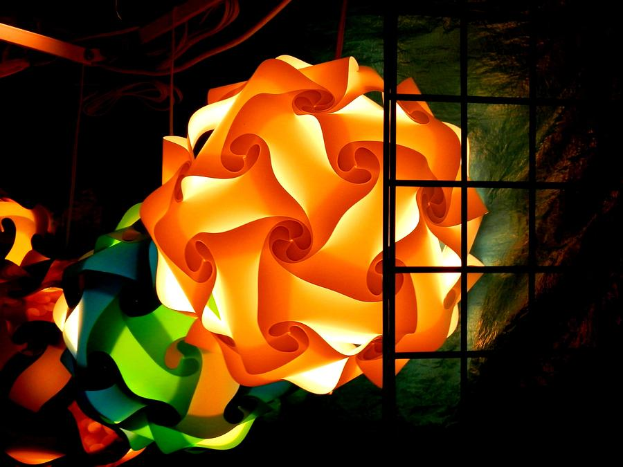 Sphere Photograph - Spheres Of Light Electrified by Deborah Kunesh