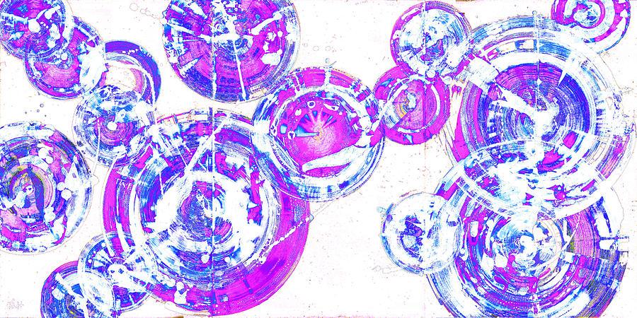 Spherical Joy Series 116.051911-dd-3invfadediff Painting by Kris Haas
