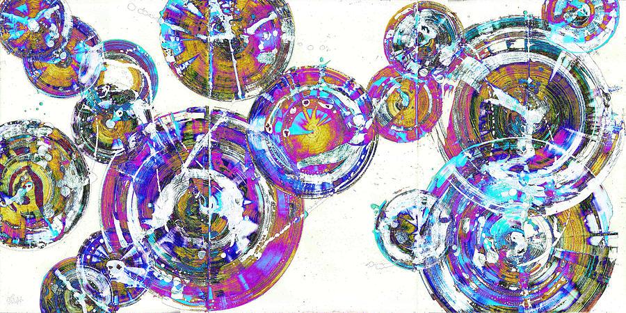 Spherical Joy Series 116.051911.18x9-1invfadediff Painting by Kris Haas