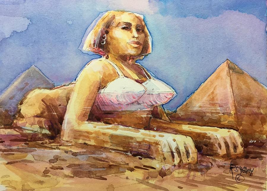 Sphinx in a Bullet Bra by Ronald Shelley