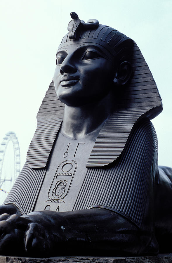Black Photograph - Sphinx In London by Carl Purcell