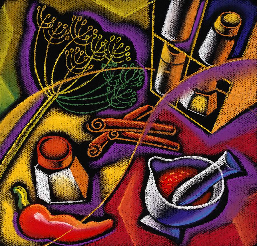Spice Art Painting by Leon Zernitsky