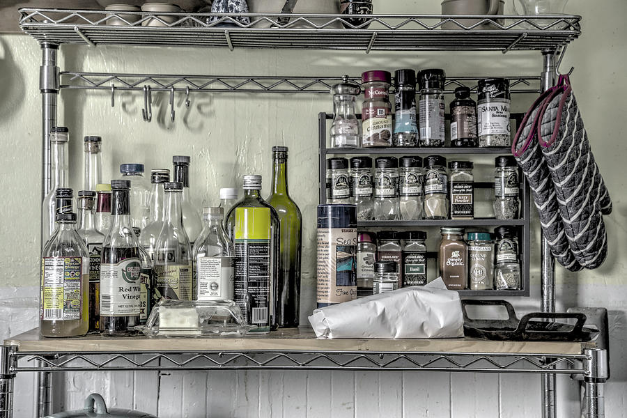 Kitchen Photograph - Spice Rack by Digiblocks Photography