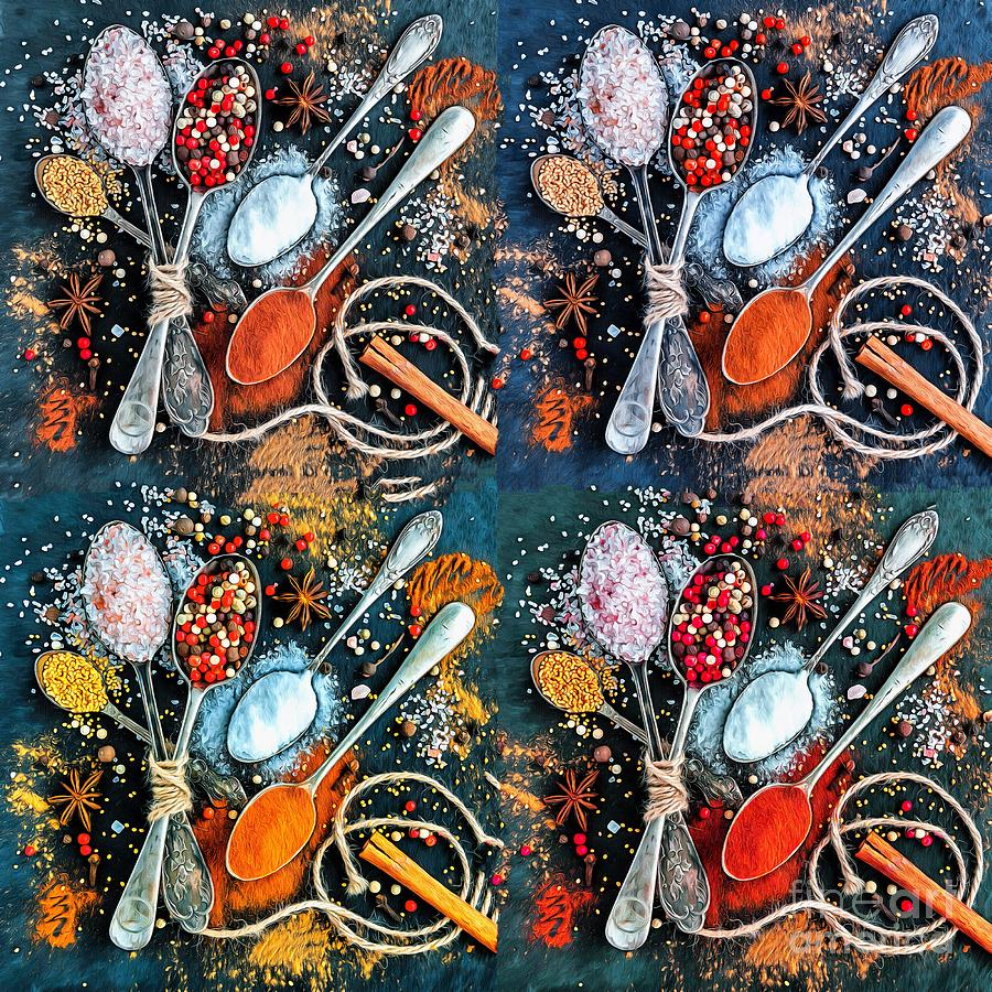 Spoons Photograph - Spice Spoon Quadrant I by Jack Torcello