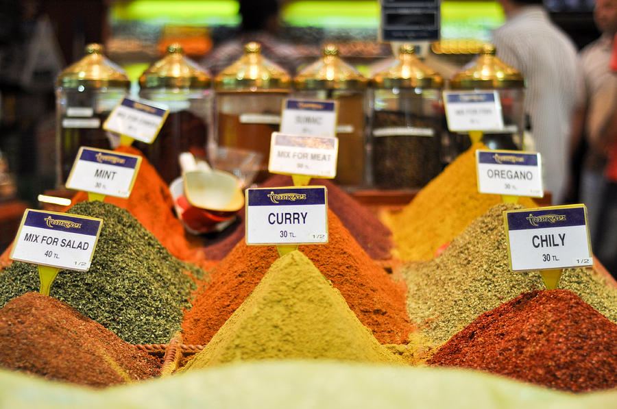 Spices Photograph - Spices by Freepassenger By Ozzy CG