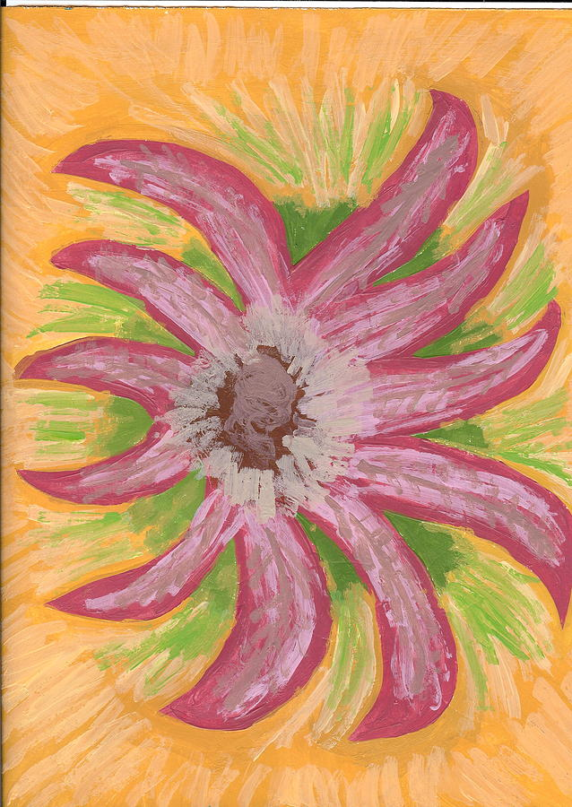 Flower Painting - Spider by Laura Lillo