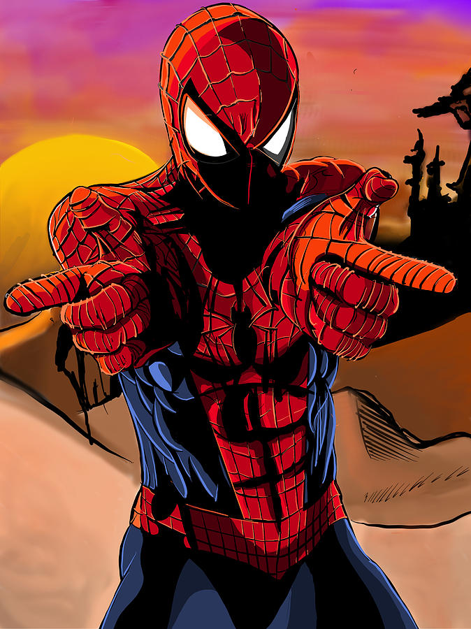 Spider-man Finger Gun-sliger Photograph