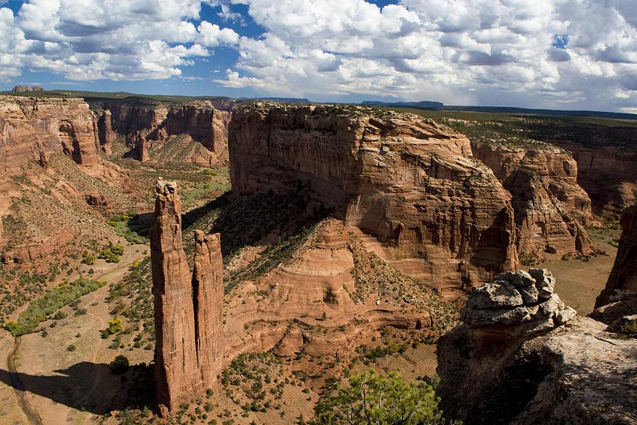 Arizona Photograph - Spider Rock Canyon De Chelly by Waterdancer