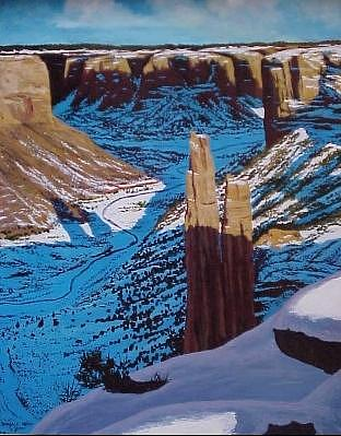 Spider Rock Painting by Donald Neff