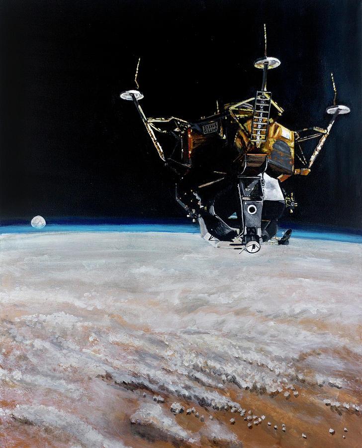 Apollo 9 Painting - Spider by Simon Kregar