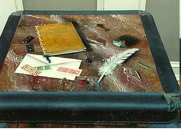 Spider Mixed Media - Spider Table by Lauren Cole Abrams
