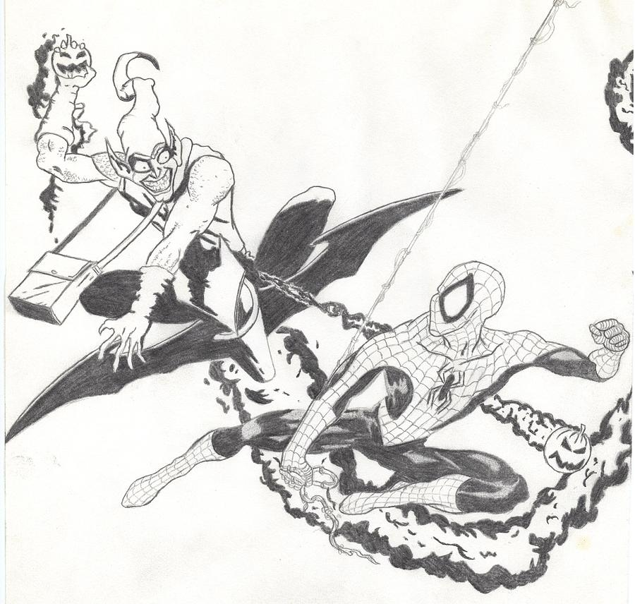 Spiderman Drawing - Spiderman 2 by Josh Bennett