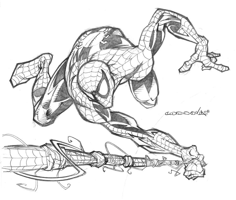 Spiderman Drawing by Isaac Cordova