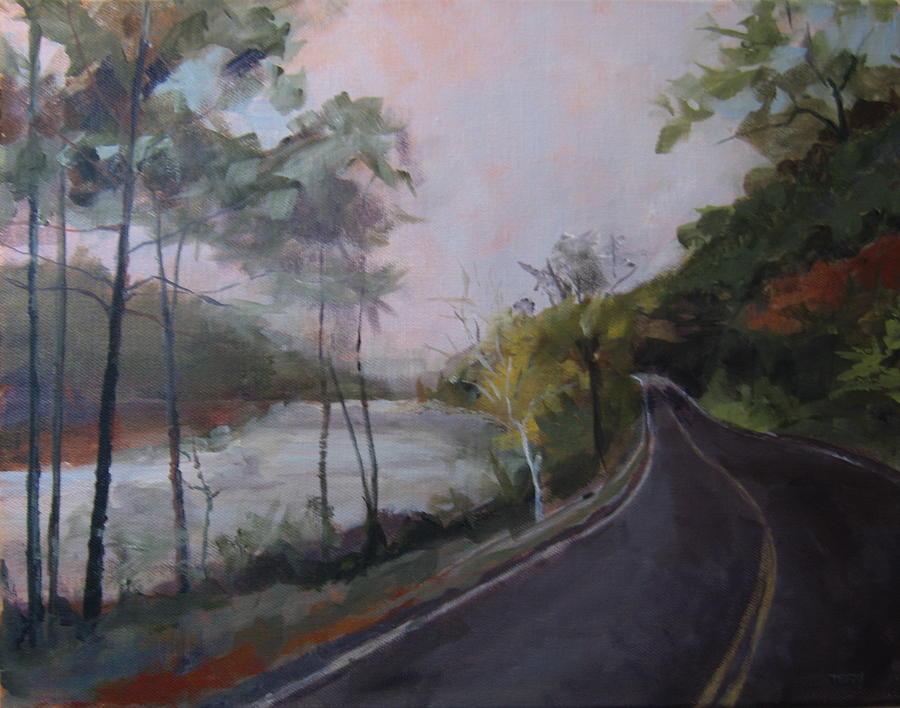 Landscape Painting - Spier Falls by Terri Messinger