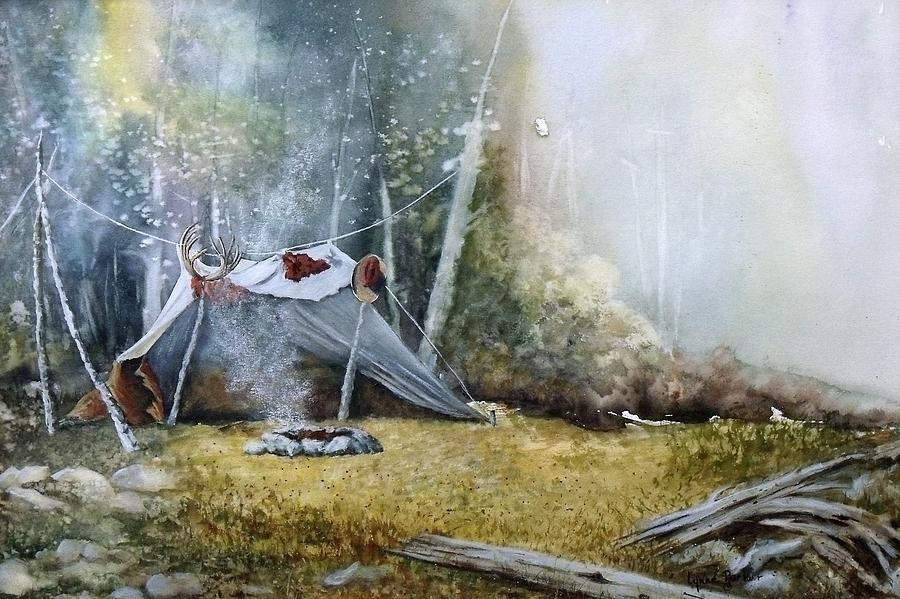 Tent Painting - Spike Camp by Lynne Parker