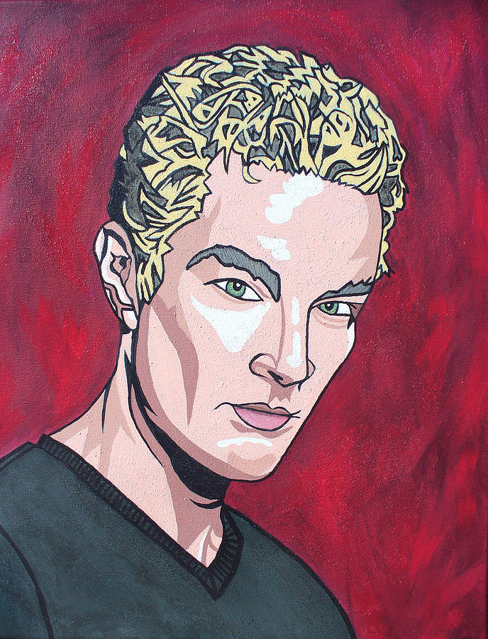 Spike Painting - Spike by Sarah Crumpler