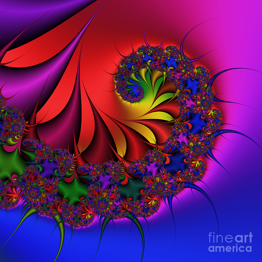 Abstract Digital Art - Spiky 175 by Rolf Bertram