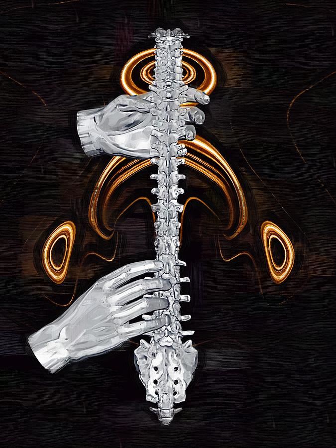 Spine Digital Art - Spine - Instrument Of Life by Joseph Ventura