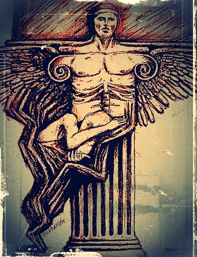 Column Digital Art - Spine by Paulo Zerbato