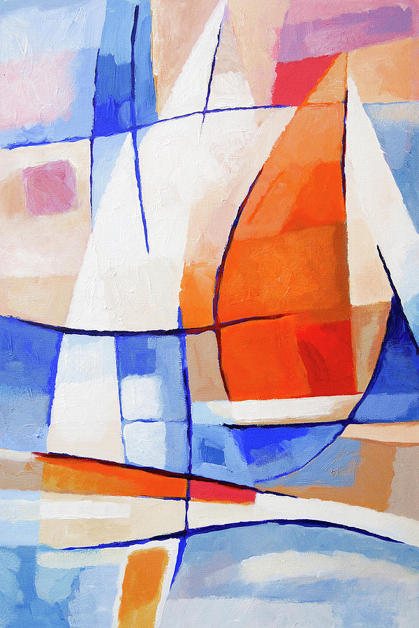 Spinnaker Painting - Spinnaker Sailing by Lutz Baar