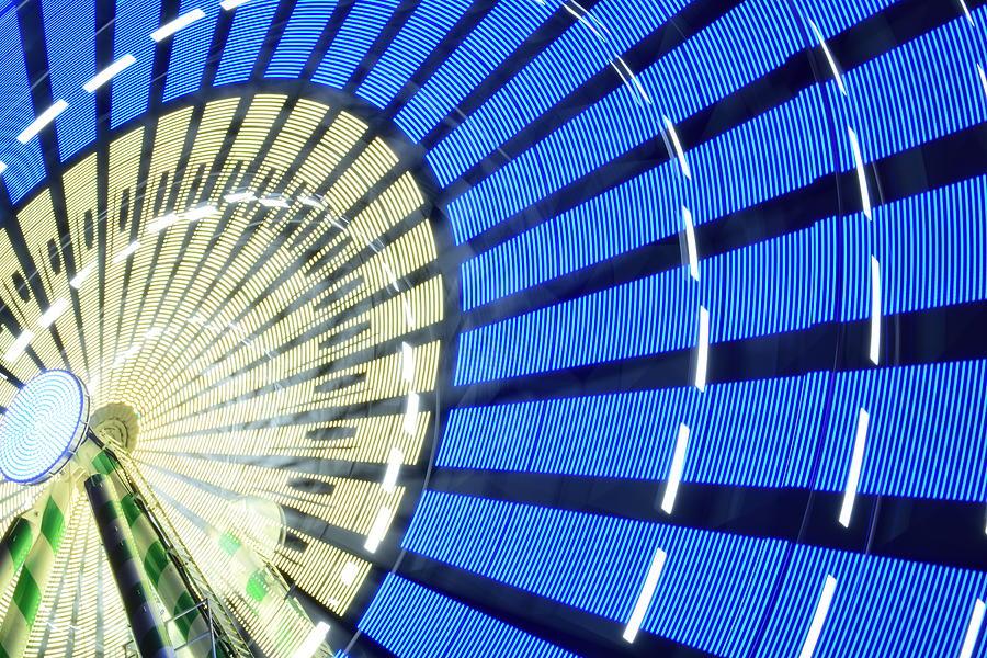 Spinning Ferris Wheel at Night by Steven Liveoak