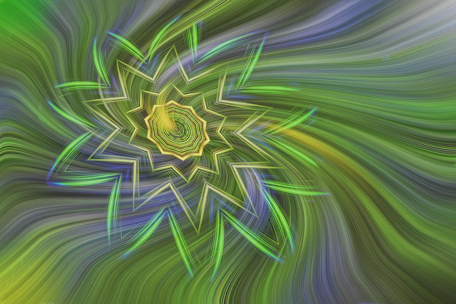Abstract Photograph - Spinning Star by Linda Phelps
