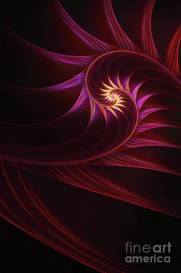 Fractal Digital Art - Spira Mirabilis by John Edwards