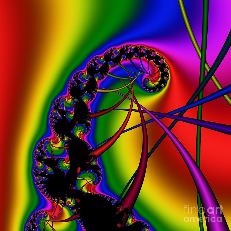 Abstract Digital Art - Spiral 122 by Rolf Bertram
